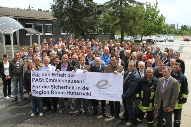 Kundgebung für den Erhalt der PASt Emmelshausen