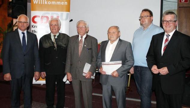 Dank und Anerkennung: CDU ehrt Mitglieder für langjährige Treue!