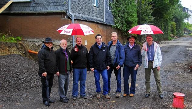 Vorstand des CDU Gemeindeverbandes Emmelshausen informierte sich über Ausbau der Hausbayer Straße in Pfalzfeld.